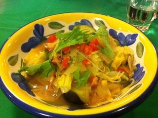 季節野菜のスープスパゲティ