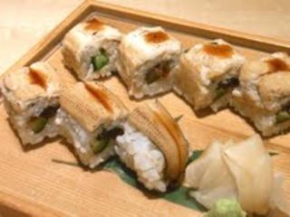穴子のロール寿司