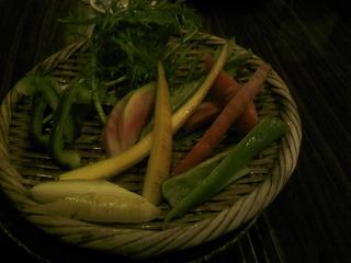 情熱野菜の盛り合わせ