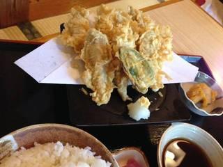 いわしの天ぷら定食