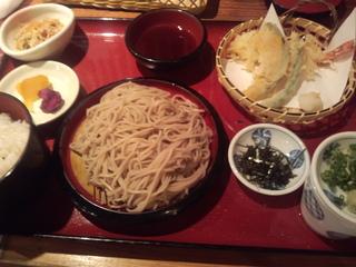 天ぷらそばランチ