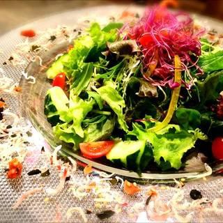 チリメンジャコのサラダ