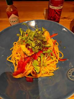 こだわりの野菜のトマトパスタ
