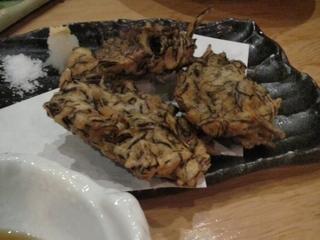 県産もずくの天ぷら