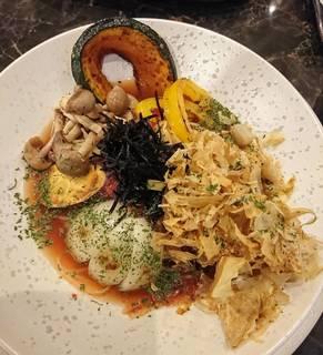 有機野菜と塩昆布の和風梅パスタ