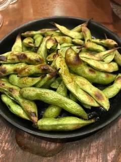 焼き枝豆ガリバタ醤油