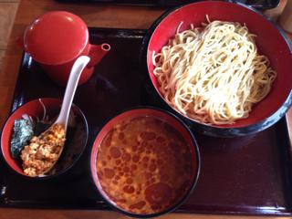 酸辣味噌つけ麺