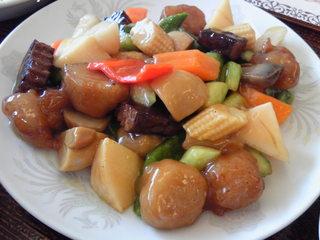 大豆肉と野菜の炒め