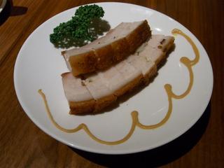 豚バラ肉の釜焼きパリパリ皮付き