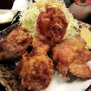 地鶏の唐揚げ 卵黄とろろ定食