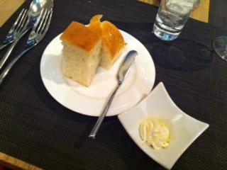 自家製シトラスハニーバターと自家製パン