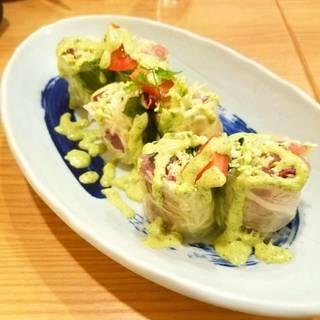 海鮮生春巻サラダ