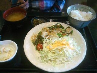 野菜たっぷり回鍋肉定食