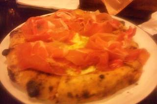 生ハムのピザ