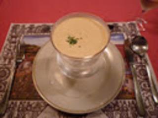 冷たい芝海老のクリームスープ