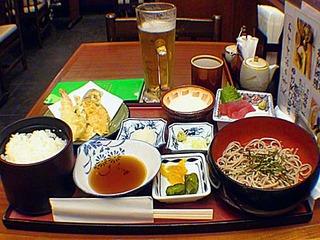 天ぷらとろろそば定食