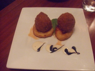 ボルチーニ茸とゴルゴンゾーラのライスコロッケ