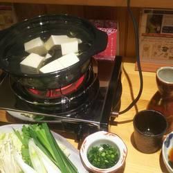 湯豆腐ナスの味噌田楽あじフライ