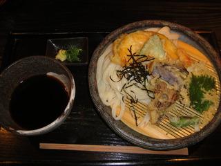 旬野菜天ぷらざるうどん