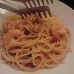海老とアスパラのトマトクリームスパゲティ