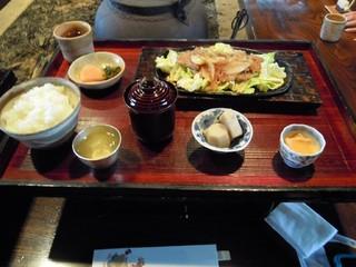 バームクーヘン豚の生姜焼き定食