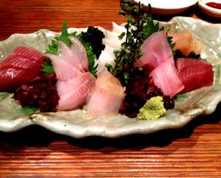 鮮魚の刺身5点盛り合わせ