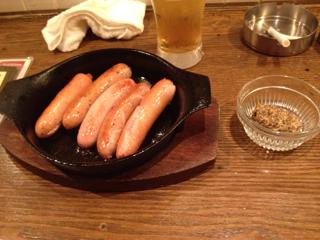 5種のソーセージ鉄板焼き