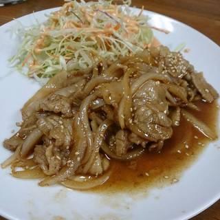 玉ねぎと豚肉の炒め物