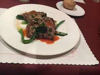 牛肉のグリルマスタード風味