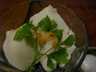 塩でもうまい自家製豆乳豆腐