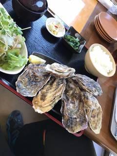 焼き牡蠣定食