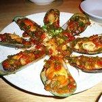 ムール貝のガーリック炒め