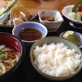 天ぷらお刺身定食