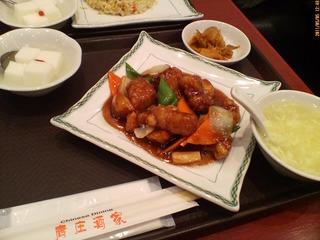 黒酢酢豚のセット