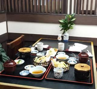 松茸と天ぷら定食
