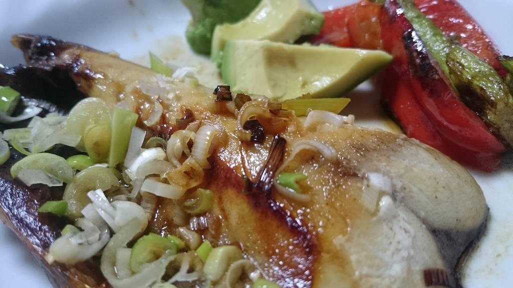 鯖の文化干し 夏野菜添え