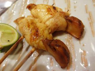 名古屋コーチンと松茸の串焼き