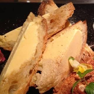 アイスとメイプルシロップ漬けのフランスパン