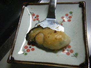 牡蠣のステーキ