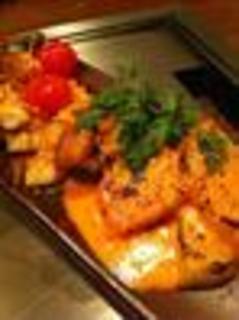 赤地鶏と旬野菜の彩り鉄板焼き