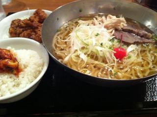 【ランチ】冷麺+チャンジャご飯+カラアゲ3つセット
