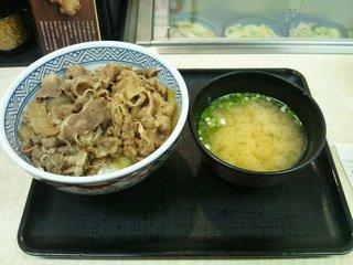 牛丼・サラダ・みそ汁セット