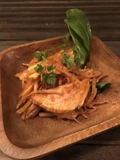 ローストポークのおつまみ大根サラダ(辛味噌)