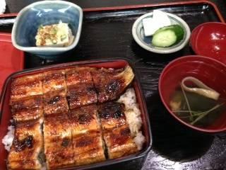 うな重定食(上)