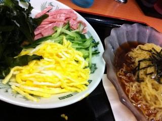 黒酢しょうゆ冷やし麺