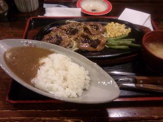 牛タン焼き定食 + カレー