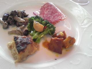 前菜とパスタセット