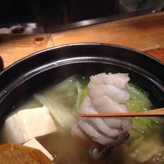 奄美大島の本クエ あったか湯豆腐