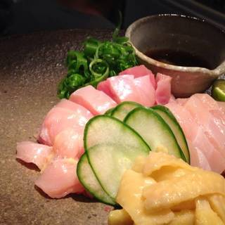 淡海地鶏刺身盛