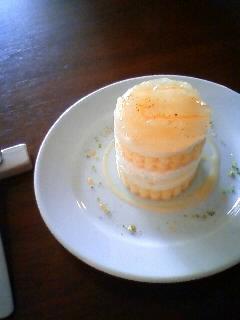 柑橘のショートケーキ